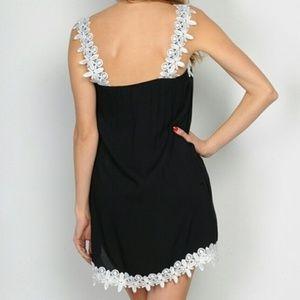 Dresses - BLACK & WHITE MINI DRESS
